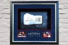 Anthony Joshua Signed Glove Display