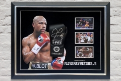 Floyd Mayweather Signed Glove Display