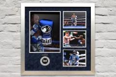 Mayweather Blue Glove Display