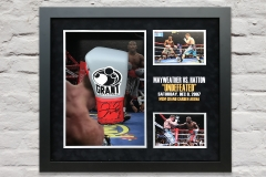 Mayweather Hatton Glove Display