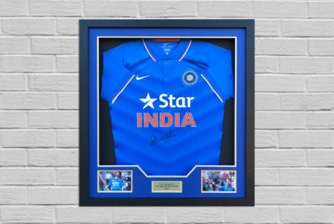 Sachin Tendulkar Signed Shirt Display