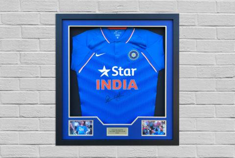 Sachin Tendulkar Signed Shirt Display